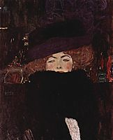 Lady with Hat and Featherboa, 1909, klimt
