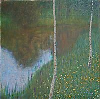 Lakeside with Birch Trees, 1901, klimt