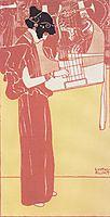 Musik (lithograph), 1901, klimt