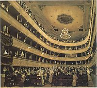 The Old Burgtheater, 1888-89, klimt