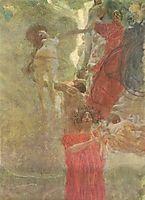 Painted composition design to medicine, c.1888, klimt