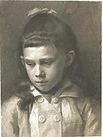 Portrait of a Girl, Head Slightly Turned Left, 1879, klimt
