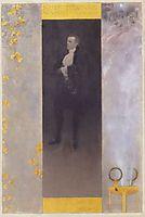 Portrait of Josef Lewinsky, 1895, klimt