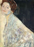 Portrait of a Lady in White (unfinished), 1918, klimt