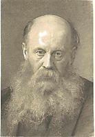 Portrait of a man with beard, klimt