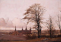 Autumn Landscape, Frederiksborg Castle in the Middle Distance, 1838, kobke