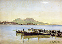 The Bay of Naples with Vesuvius in the Background, 1840, kobke