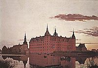 Frederiksborg Palace in the Evening Light, 1835, kobke