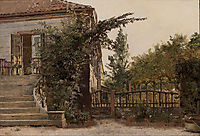 The Garden Steps Leading to the Artist-s Studio on Blegdammen, 1845, kobke