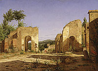 Gateway in the Via Sepulcralis in Pompeii, 1846, kobke