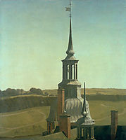 One of the Small Towers on Frederiksborg Castle, 1835, kobke