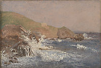 Rough Sea on a Rocky Coast, 1839, kobke