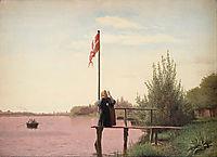 A View from Dosseringen near the Sortedam Lake Looking towards the Suburb Nørrebro outside Copenhagen, 1838, kobke