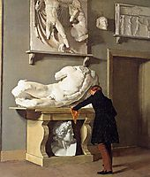 The View of the Plaster Cast Collection at Charlottenborg Palace, 1830, kobke