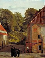 A View of the Square in the Kastel Looking Towards the Ramparts, 1830, kobke