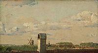 View from a Window in Toldbodvej Looking Towards the Citadel in Copenhagen, 1833, kobke