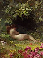 Eve after Falling Into Sin, 1883, koler