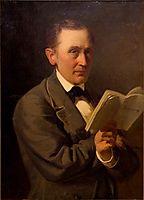 Friedrich Reinhold Kreutzwald reading The Kalevipoeg in manuscript, 1864, koler
