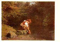 Girl at the Spring, 1862, koler