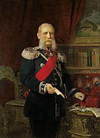 Portrait of Dr. Philipp Karell, Emperor-s Physician, 1886, koler