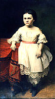The portrait of Nikolai Petrovitsch Semjonovs' daughter, 1865, koler
