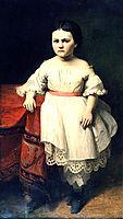 The portrait of Nikolai Petrovitsch Semjonovs' daughter, 1865, koler