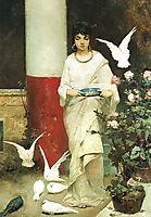 Girl with Pigeons, kotarbinski