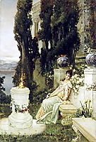 A Lady on a Marble Bench in Ancient Rome, 1909, kotarbinski