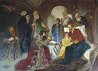 Prince Dmitry Pozharsky Patient Receives Ambassadors in Moscow, 1882, kotarbinski