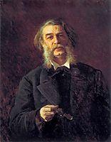 Dmitry Grigorovich, a Russian writer, 1876, kramskoy
