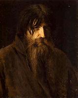 Head of an Old Peasant (study), 1874, kramskoy