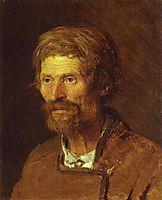 Head of an Old Ukranian Peasant, 1871, kramskoy
