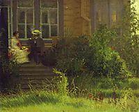On the Balkony Siverskaya, 1883, kramskoy