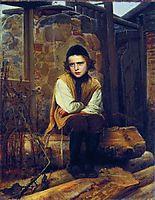 Outraged Jewish boy , 1874, kramskoy