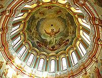 The paintingof the maindomeof the templeof Christthe Saviorin Moscow, 1865, kramskoy