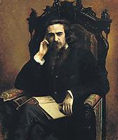 Portarait of philosopher Vladimir Solovyov, 1885, kramskoy