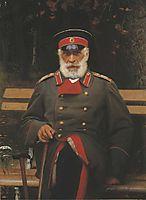 Portrait of Admiral Login Loginovich Heyden, 1882, kramskoy