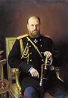 Portrait of Alexander III, 1886, kramskoy