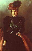 Portrait of an Unknown Woman, 1886, kramskoy