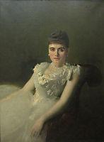 Portrait ofAnnavonDerviz, 1881, kramskoy
