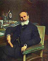 Portrait of Art Critic Pavel Kovalevsky, 1886, kramskoy