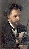 Portrait of the Artist G.G. Myasoedov , 1872, kramskoy
