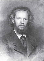 Portrait of the Artist Johann Gottlieb Wenig, 1861, kramskoy