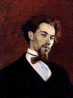 Portrait of the Artist Konstantin Savitsky , 1871, kramskoy