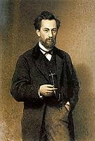 Portrait of theArtistMikhailKonstantinovichKlodt, 1871, kramskoy