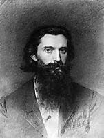 Portrait of the Artist Nikolai Dmitrievich Dmitriev-Orenburg , 1866, kramskoy
