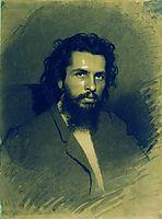 Portrait of the Artist Nikolay Andreyevich Koshelev , 1866, kramskoy
