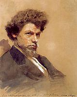 Portrait of theArtistV.M. Maksimov, kramskoy