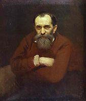 Portrait of the Artist Vasily Perov, 1881, kramskoy