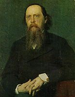 Portrait of the Author Mikhail Saltykov Shchedrin, 1879, kramskoy